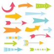 Colorful arrows set — Stock Vector