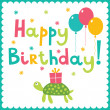 Happy birthday card — Stock Vector #27080135