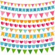 Colorful garlands and bunting flags — Stock Vector #27080171