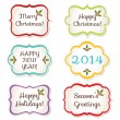 Stock Vector: Christmas frames set