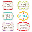 Christmas frames set — Stock Vector
