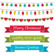 Christmas design elements set — Stock Vector #34720421