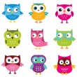 Cute owls set — Stock Vector #39946837