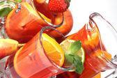 Sangria and fruits — Stock Photo