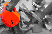 Love padlocks — Stock Photo