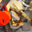 Love padlocks - Stock Photo
