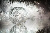 серебряные украшения — Стоковое фото