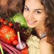 Woman with vegetables — Stock Photo #23213426