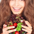 Woman with bowl of salad — Stock Photo #23213430