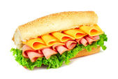 Sandwich with ham and cheese — Stock Photo