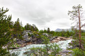 Wild glacier river — Stock Photo