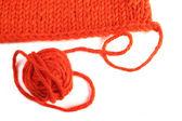 毛纱和针织的纺织 — 图库照片