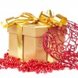 Gift box and christmas decoration — Foto Stock