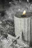 Bougie de noël avec décoration — Photo