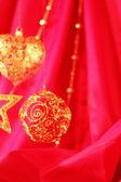 Altın christmas dekorasyon — Stok fotoğraf