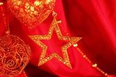 Golden christmas decoration — Foto de Stock