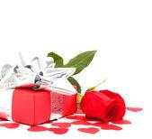 Regalo y rose — Foto de Stock