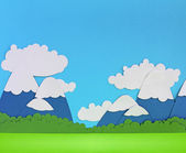 Paper mountain landscape — Stock Photo