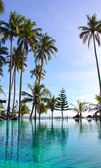 Pool på en tropisk strand — Stockfoto