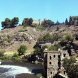 View on Toledo wall and river — Stock Photo
