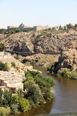 Toledo and Tagus river, Spain — Stock Photo