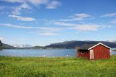 Village de la côte du fjord — Photo