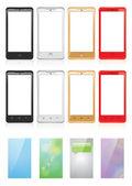 Smartphones — Stock Vector