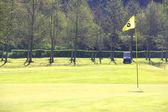Golf flag on course — Stock Photo