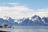 Arctic mountains and fjord — Stock Photo