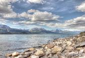 Fiordos y montañas del ártico — Foto de Stock