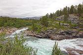 дикие ледник река — Стоковое фото