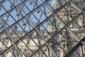 Louvre Pyramid — Stock Photo