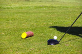 Golf ball on tee — Foto de Stock