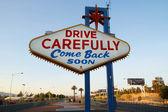 Back of Las Vegas sign — Stock Photo