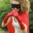 Superhero girl — Foto de Stock