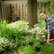 Stock Photo: Teenager gardening