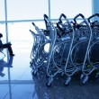 Trolleys at airport - Stock Photo