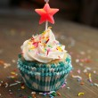 Birthday cupcake — Stock Photo #12192895