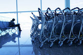 Trolleys at airport — Stock Photo