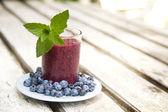 Blueberry smoothie — Stock Photo