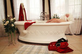 Santa claus relax — Stock Photo