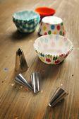 Cup cake papier und düsen — Stockfoto