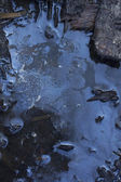 Oil slick on water — Stock Photo