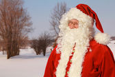 Santa claus outside — Stock Photo