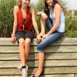Teenagers sit outside — Stock Photo #12211021