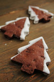 Noel ağacı kurabiye — Stok fotoğraf