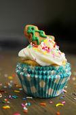 Cupcake with christmas tree — Foto de Stock