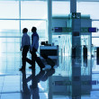 Departur gate at the airport - Stock Photo