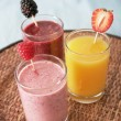 Stock Photo: Smoothies and juices