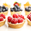 Fruity tarts — Stock Photo